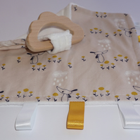 Teething baby blanket comforter - Dog and Cloud - CE certified from birth
