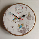 Beatrix Potter Peter Rabbit Eating too much Lettuce makes me Sleepy Wall Clock