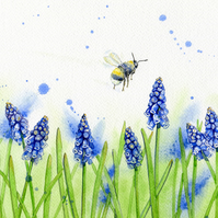 Busy Bee - Greetings Card