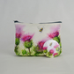 Thistles Cosmetic Bag and Hand Mirror