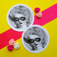 Marie Antoinette Secret - Vintage Illustration 5cm Round Circle Gift Tags