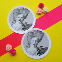 Marie Antoinette Roses - Vintage Round Circle Gift Tags