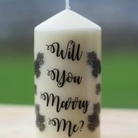 Roses - Will You Marry Me? Proposal Vanilla Scented Candle