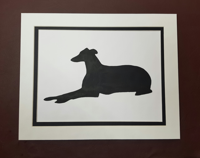 The Retired Greyhound black & white mount