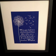 Framed Inspirational Quote