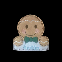 Personalised Gingerbread boy tree decoration