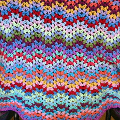 Modern Crochet Patterns : MODERN GRANNY CROCHET AFGHAN PATTERN CROCHET