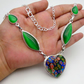 Murano Glass & Cats Eye Necklace Ethnic Gemstone Jewellery DA10397