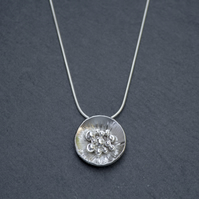 Silver granulated pendant