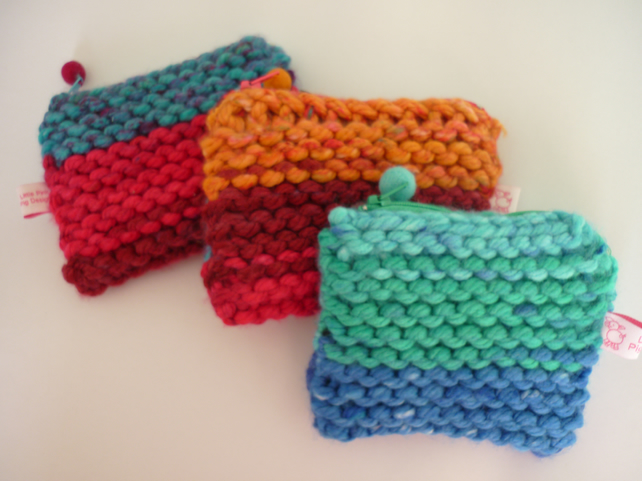 Chunky knit purse