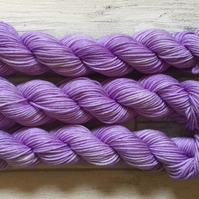 VIOLET CREAM, hand dyed yarn, merino wool, hand dyed wool, sock yarn, dk