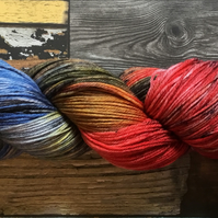 WW DARKSIDE, hand dyed yarn, hand dyed wool, merino yarn, sock yarn, dk, aran