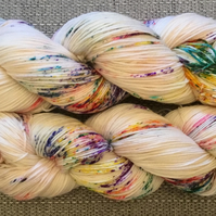 BIRTHDAY CAKE, hand dyed yarn, merino wool, hand dyed wool