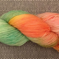 FLYING SAUCERS, hand dyed wool, hand dyed yarn, merino wool