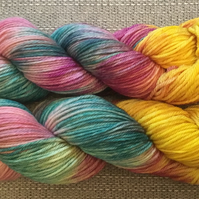 THE LAST UNICORN,Hand dyed yarn, hand dyed wool, merino, dk, 4ply,aran,sock yarn