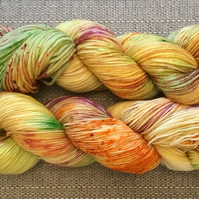 SNAP DRAGON, hand dyed yarn, hand dyed wool, sock yarn, dk yarn, merino wool