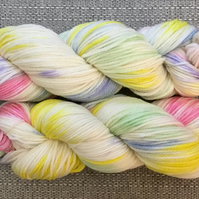 UNICORN, hand dyed yarn, merino wool, indie dyed yarn, sock, 4ply, dk, aran