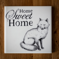 Home Sweet Home Fox Tile