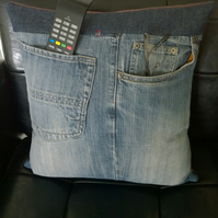 Cushion Shabby Denim style