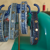 Repurposed Denim Bracelet Bundle