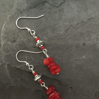 Pacific Island - Sterling Silver & Bamboo Coral