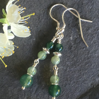 Valdivian - Sterling Silver & Green Moss Agate