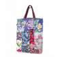 Floral collage tote bag