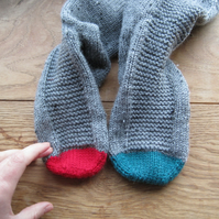 Nautical Hand Knit Socks - Port and Starboard toes
