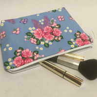 Flower make up bag