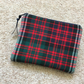 Medium wool tartan purse