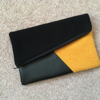 Harris Tweed clutch bag and purse
