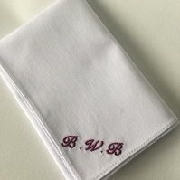 Personalised Handkerchief - Pocket square with initials