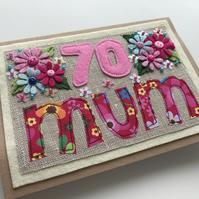 70th Birthday Card, Mum Birthday Card, Sepcial Birthday card