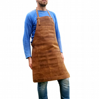 Leather Apron for Chefs and Butchers and Tradespeople Full Grain Work Apron NMDC