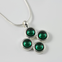 Swarovski emerald May birthstone pendant