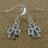 Sterling silver Christmas angel earrings