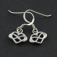Sterling silver infinity symbol drop earrings