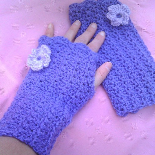 CROCHETED HAND WARMERS - CROCHET STITCH - CROCHET STITCH