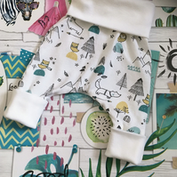 Grow With Me Baby Leggings Harem pant Newborn To 6 Months