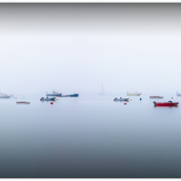 Swanage Bay Mist - Colour Panorama - 21&Half Inch by 10 Half Inch - Print Only