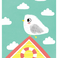 HAPPY SEAGULL - A3 Giclée Print - signed, limited edition