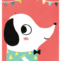 HAPPY SAUSAGE - A3 Giclée Print - signed, limited edition