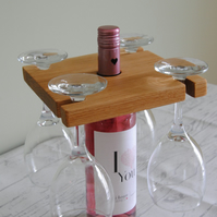 Handmade Wine and glass holder- Perfect for Birthdays, anniversaries or weddings