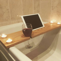 Handmade bath bar - Will hold tea lights, Phone, Tablet or Book