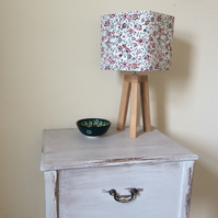 Rounded square floral lampshade