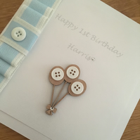 Personalised Boys 1st Birthday Card