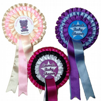 Triple Tier Rosettes -  for your baby shower- various coloured ribbon available