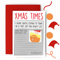 Donald Trump Christmas Card - Funny Christmas Card - Joke Seasonal Card - News
