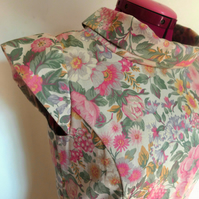 Beautiful floral up-cycled dress, size 10
