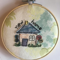 Handmade New Home Applique. Gift